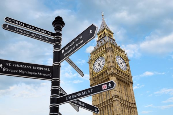 Big Ben and street signs